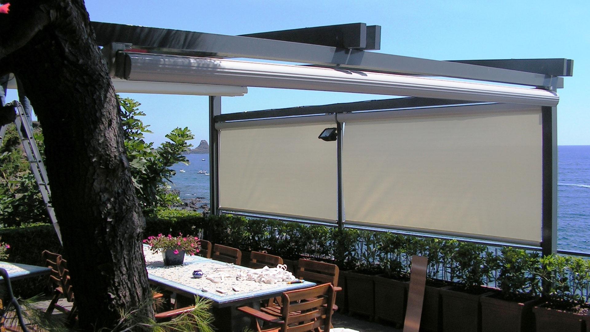 Tende Coperture Per Esterni.Tende Da Sole Per Giardini E Terrazzi Catania Mondial Tenda
